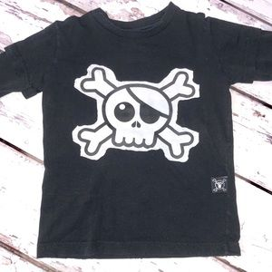 NUNUNU BLACK SKULL LONG SLEEVE SHIRT